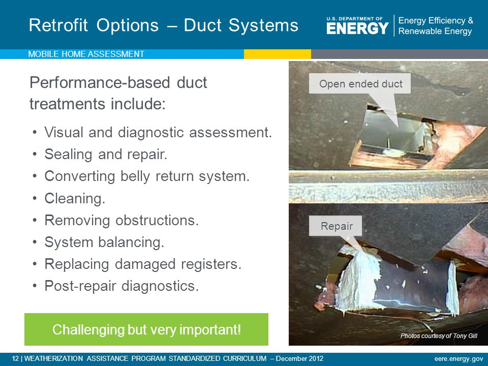 Retrofit Options – Duct Systems