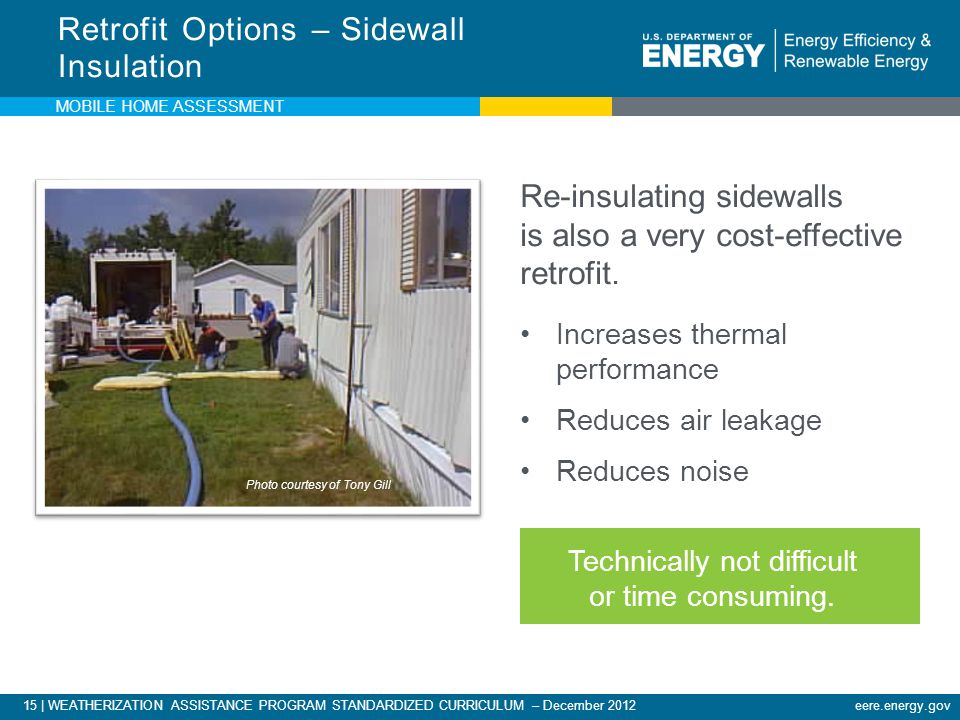 Retrofit Options – Sidewall Insulation