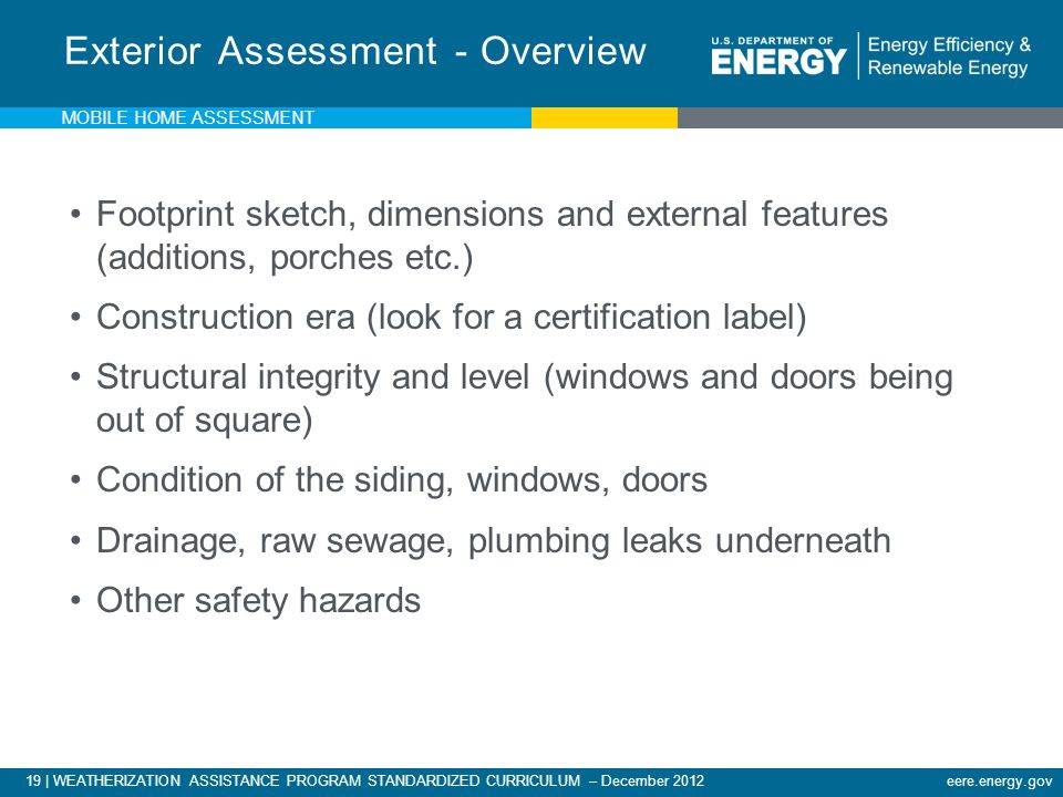 Exterior Assessment - Overview