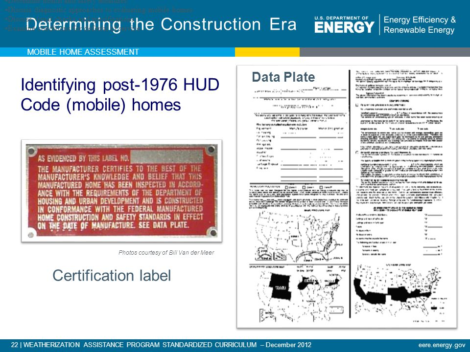 Determining the Construction Era