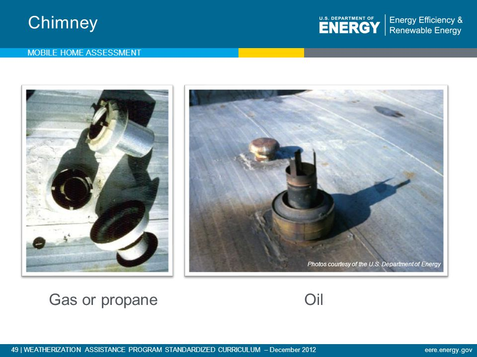 Chimney Gas or propane Oil Mobile Home Assessment