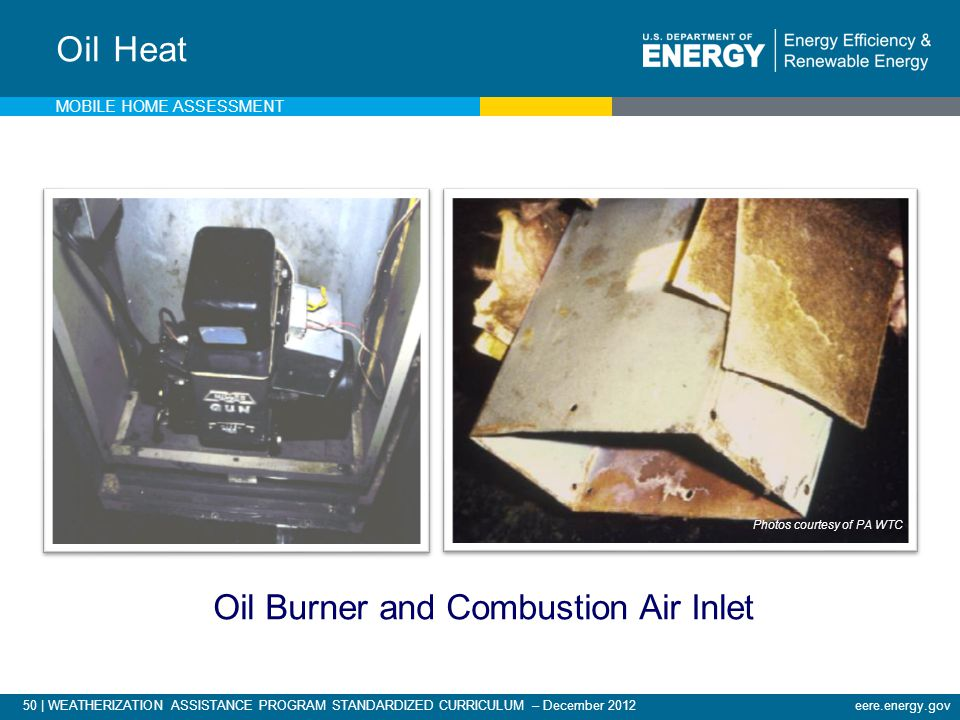 Oil Burner and Combustion Air Inlet