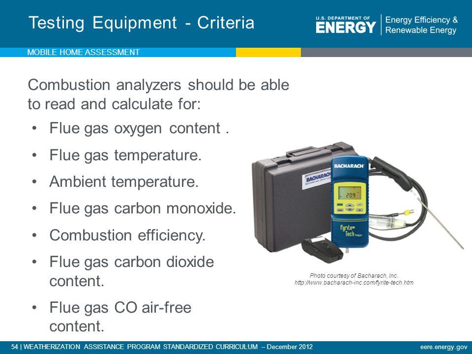 Testing Equipment - Criteria