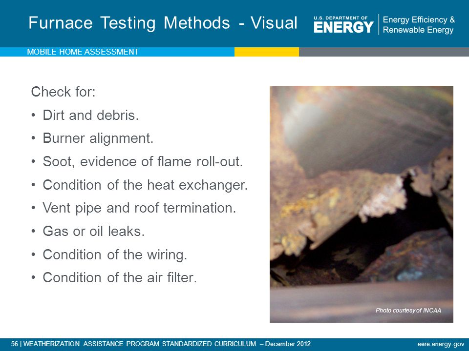 Furnace Testing Methods - Visual