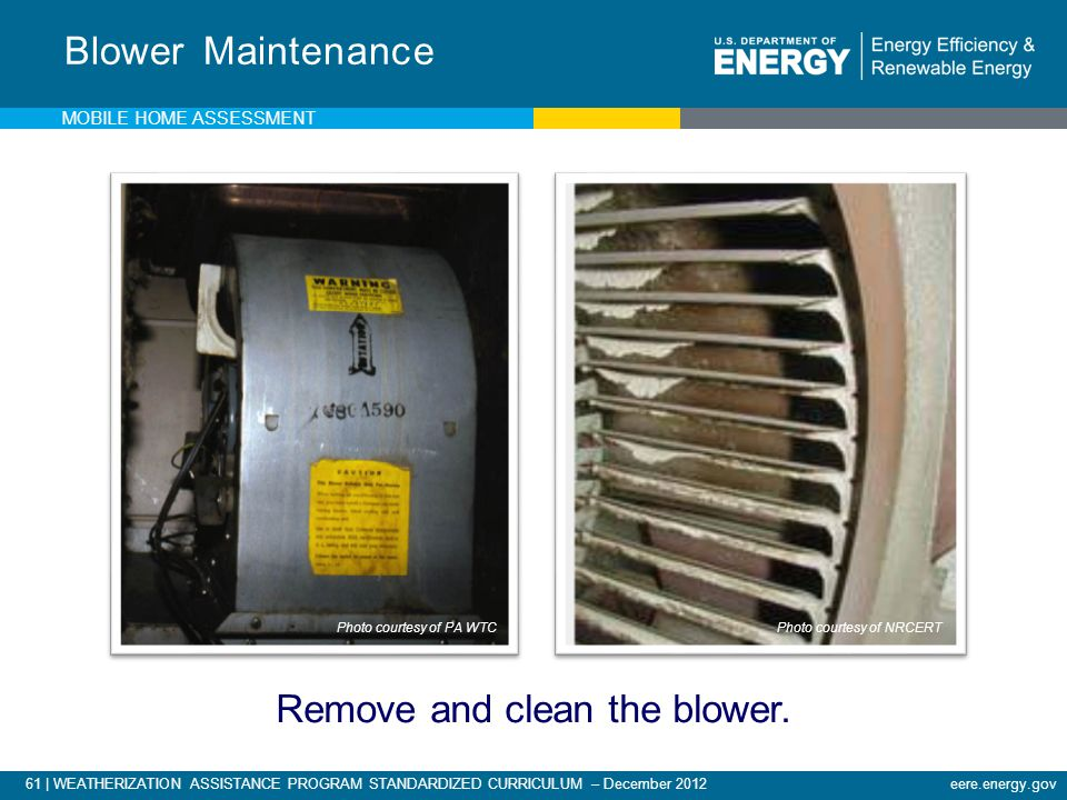 Remove and clean the blower.