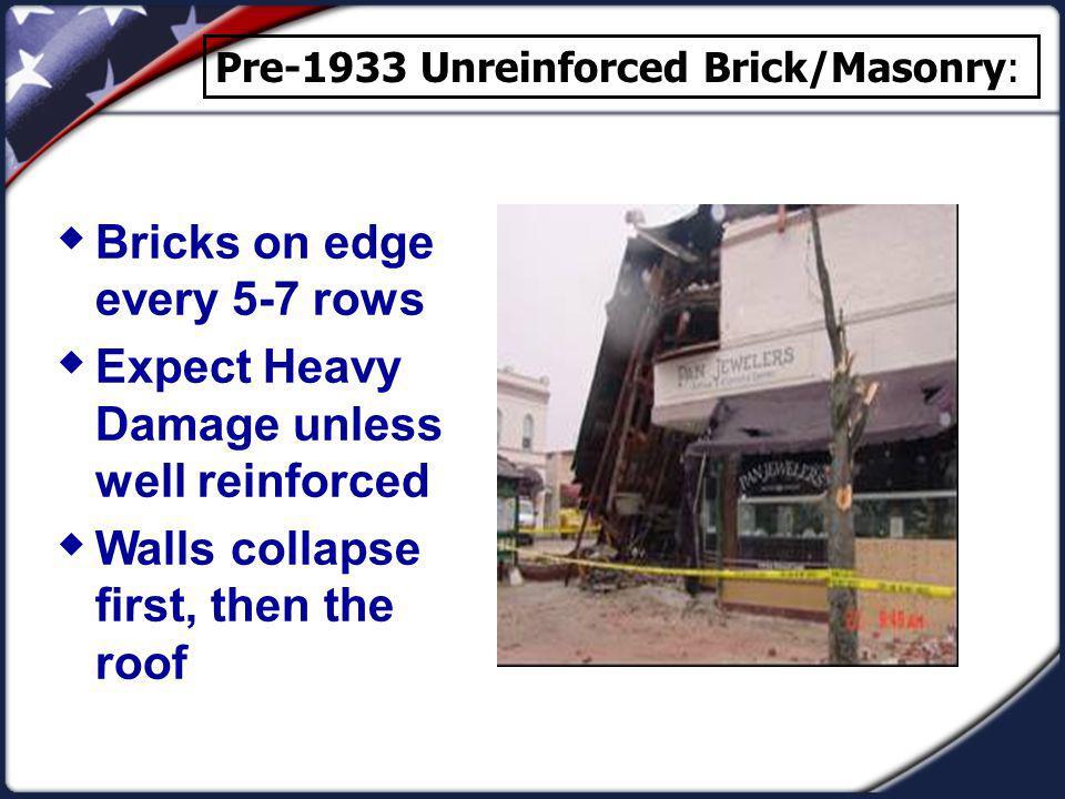 Bricks on edge every 5-7 rows