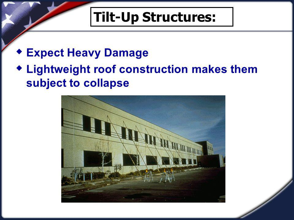 Tilt-Up Structures: Expect Heavy Damage