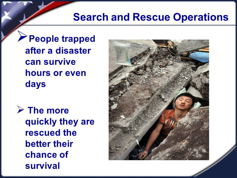 Search and Rescue Operations