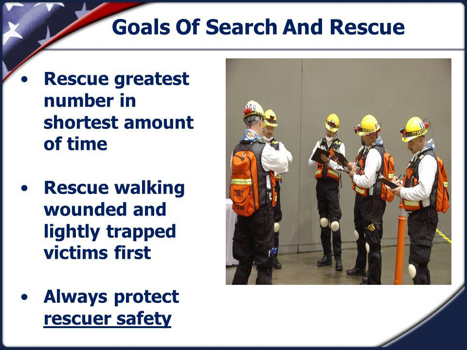 Goals Of Search And Rescue