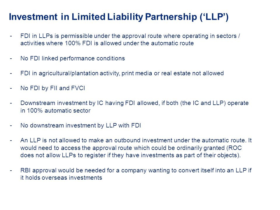 Investment in Limited Liability Partnership ('LLP')