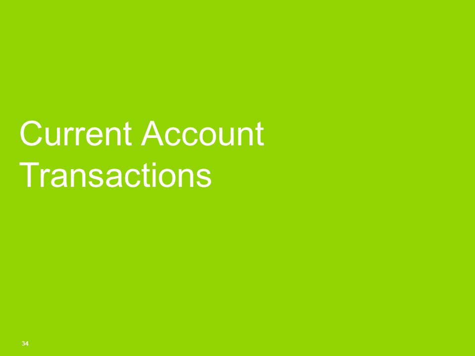 Current Account Transactions