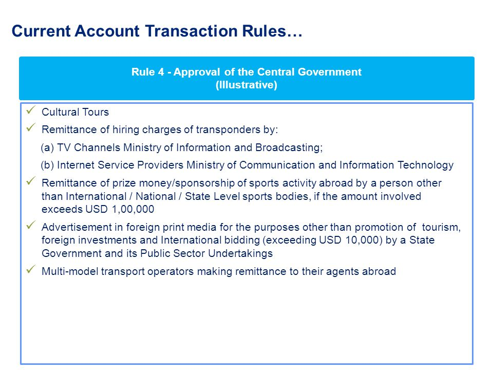 Current Account Transaction Rules…