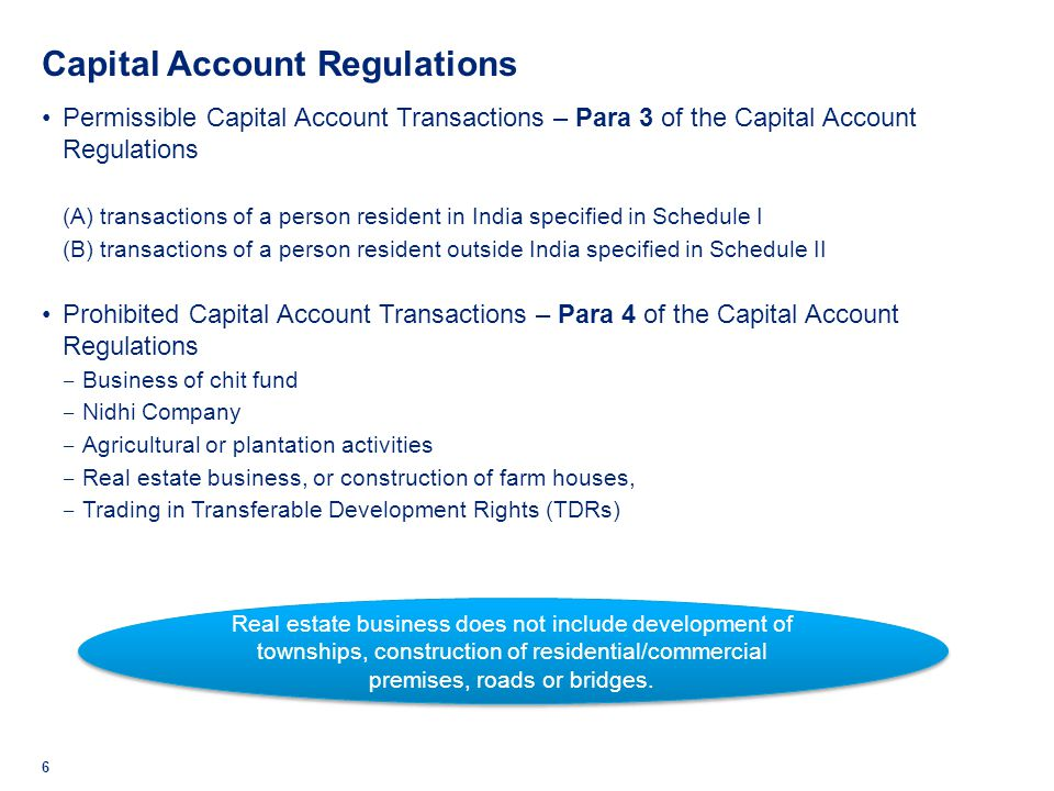 Capital Account Regulations