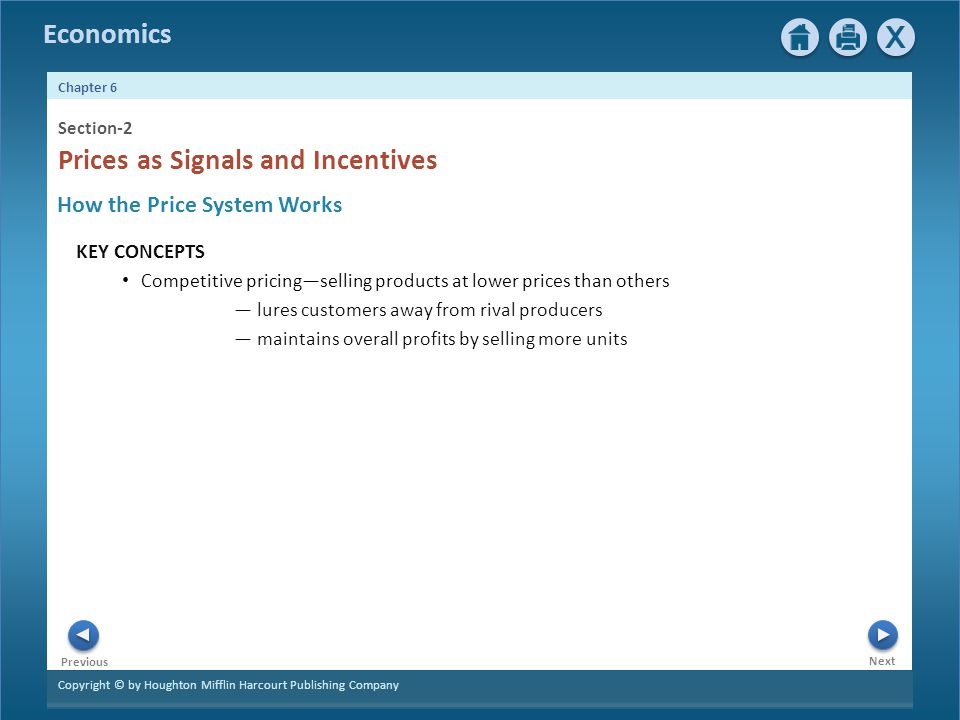 Prices as Signals and Incentives