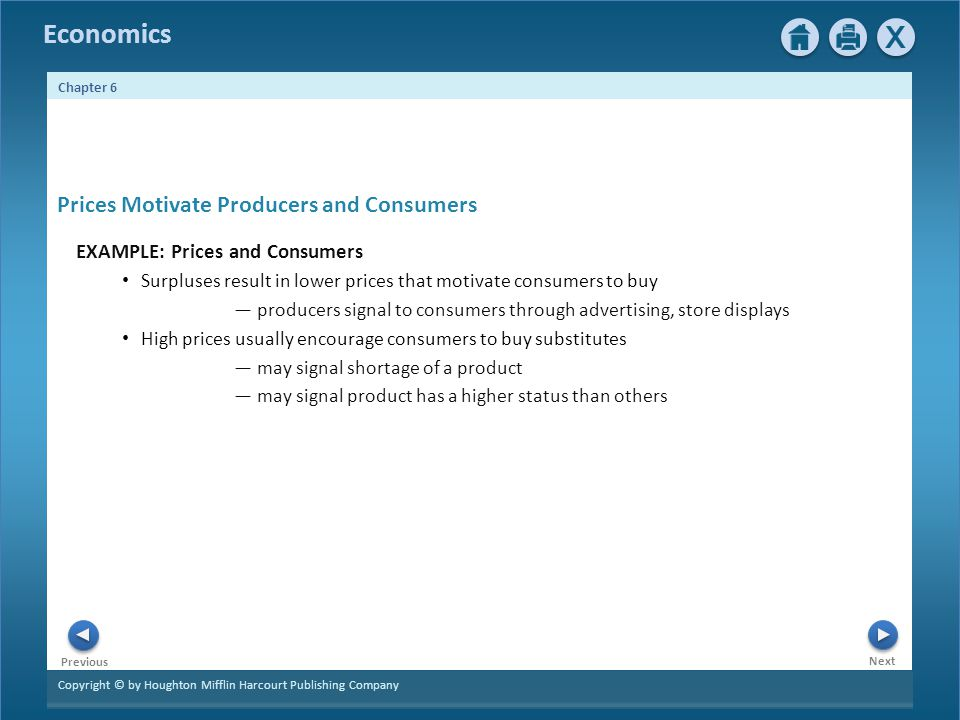 Prices Motivate Producers and Consumers