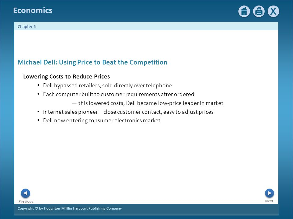 Michael Dell: Using Price to Beat the Competition