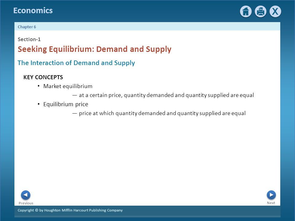 Seeking Equilibrium: Demand and Supply