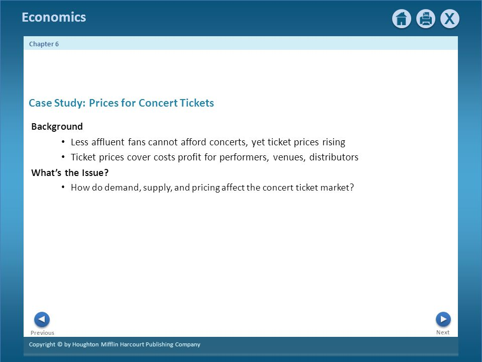 Case Study: Prices for Concert Tickets