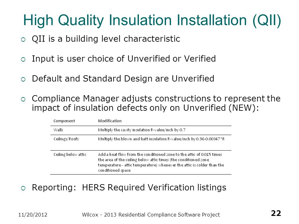 High Quality Insulation Installation (QII)