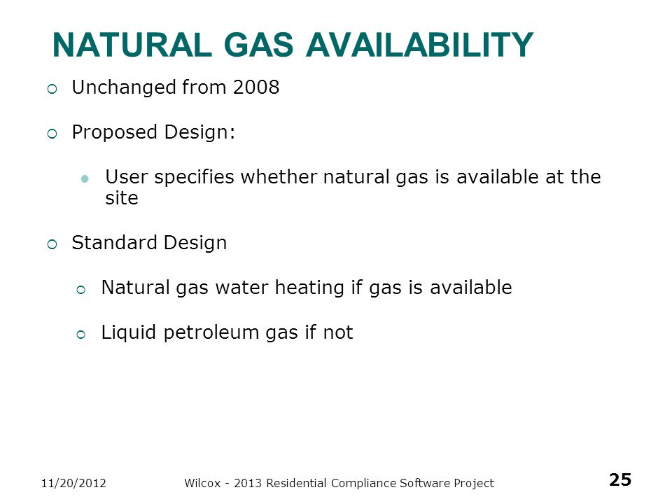 Natural Gas Availability