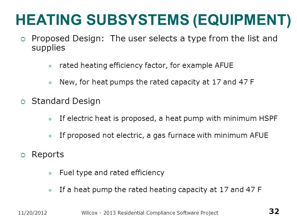 Heating Subsystems (Equipment)