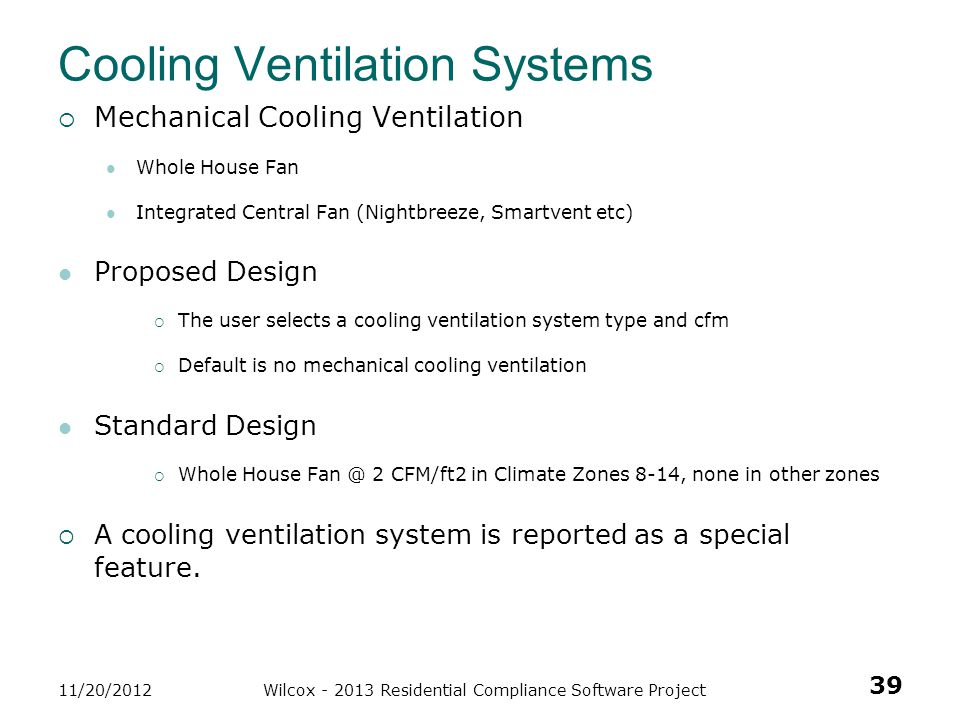 Cooling Ventilation Systems