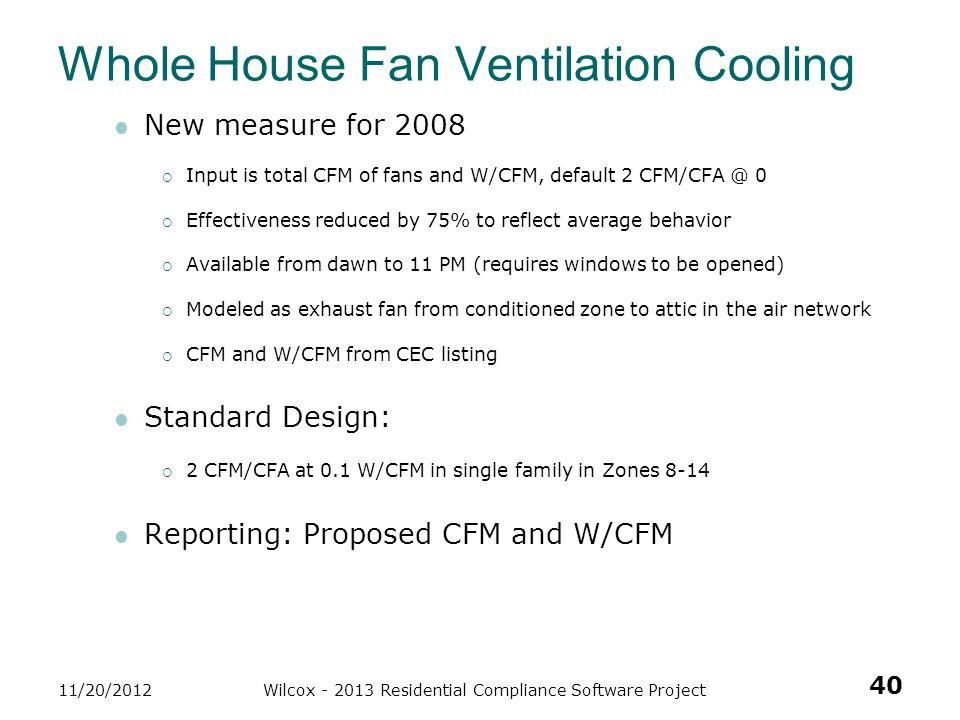 Whole House Fan Ventilation Cooling