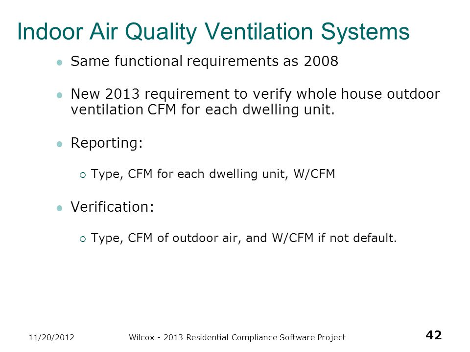 Indoor Air Quality Ventilation Systems