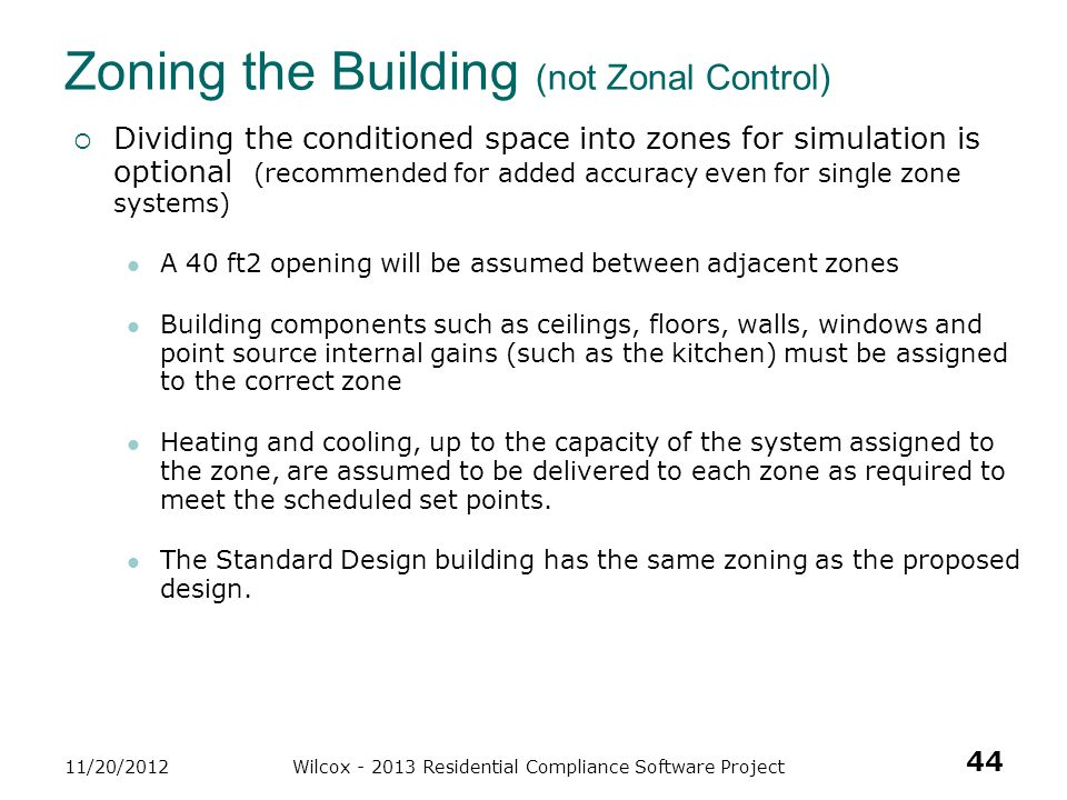 Zoning the Building (not Zonal Control)