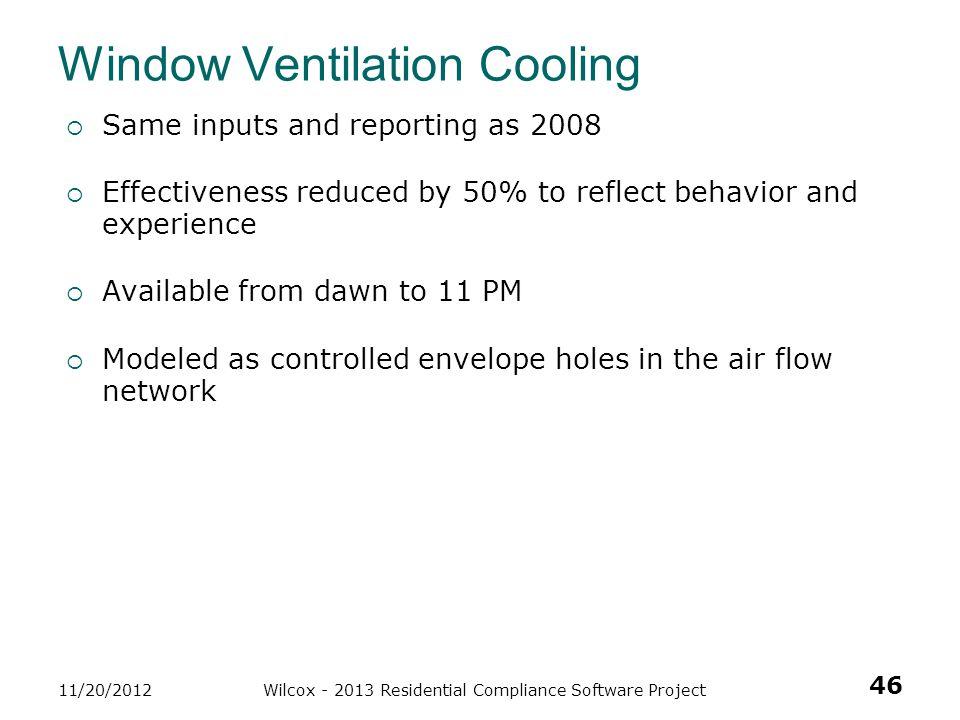 Window Ventilation Cooling