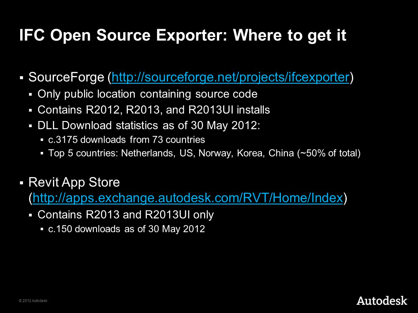 IFC Open Source Exporter: Where to get it