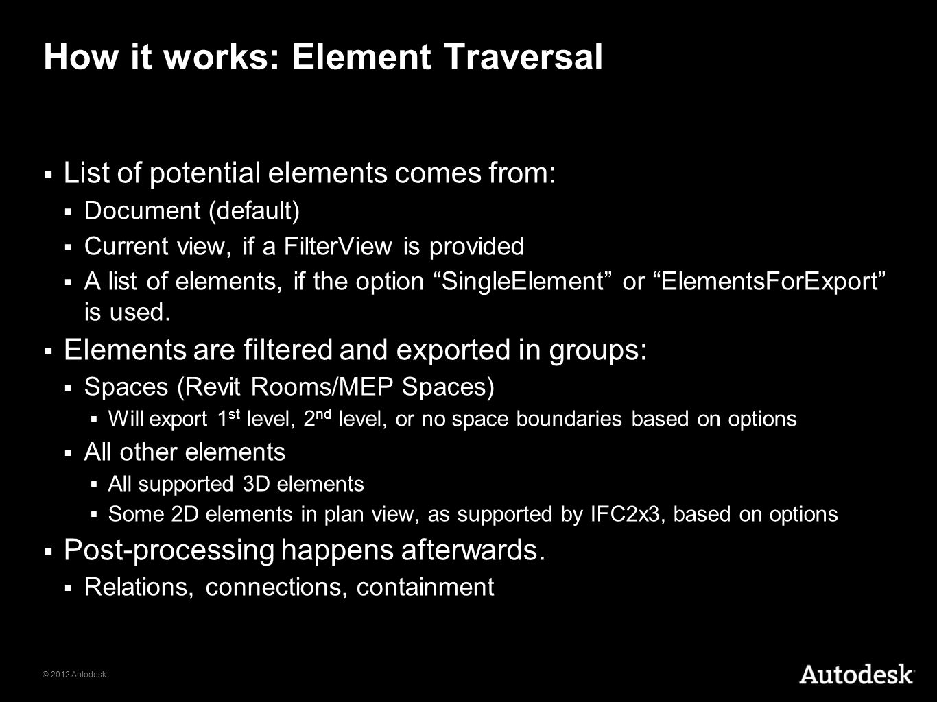 How it works: Element Traversal