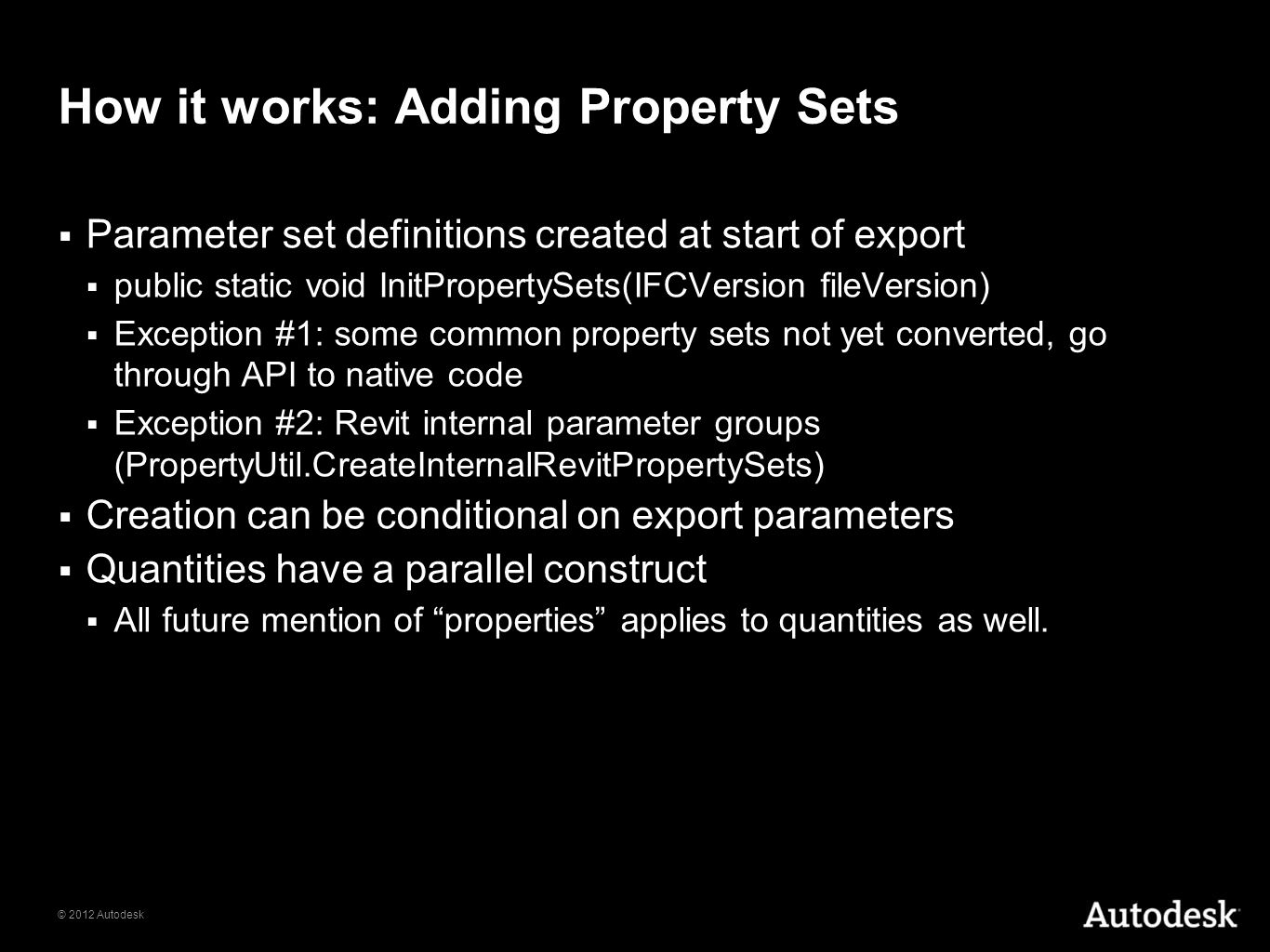How it works: Adding Property Sets