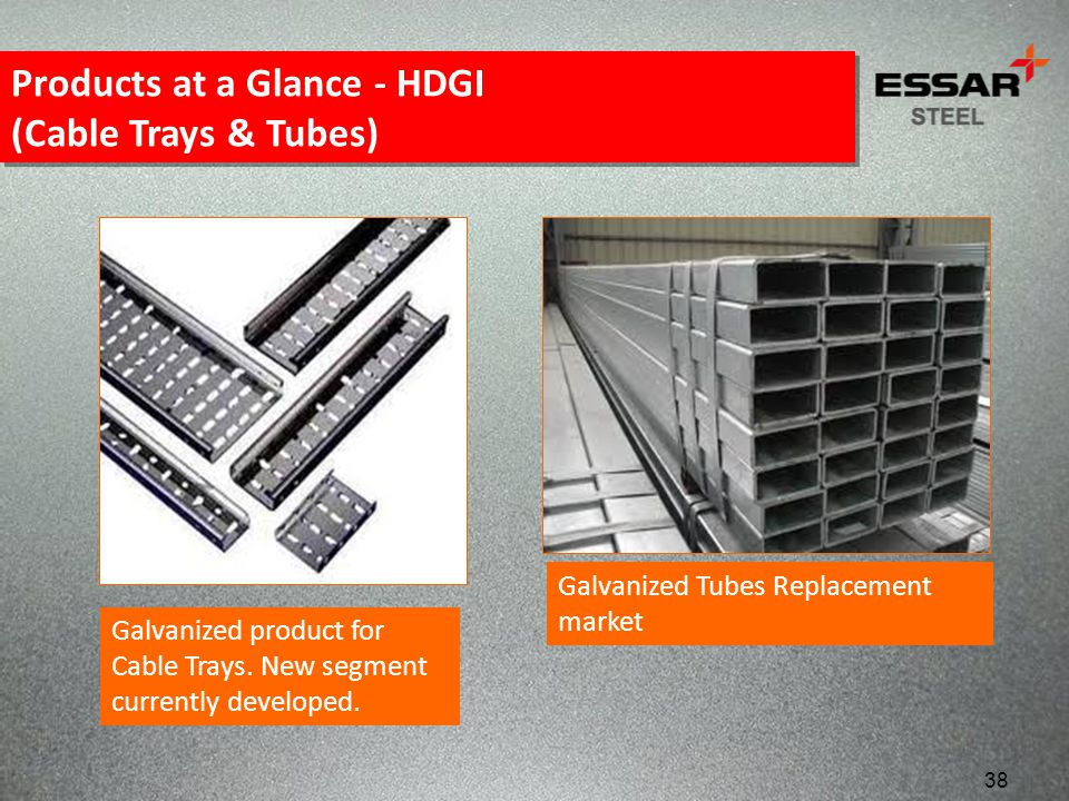 Products at a Glance - HDGI (Cable Trays & Tubes)