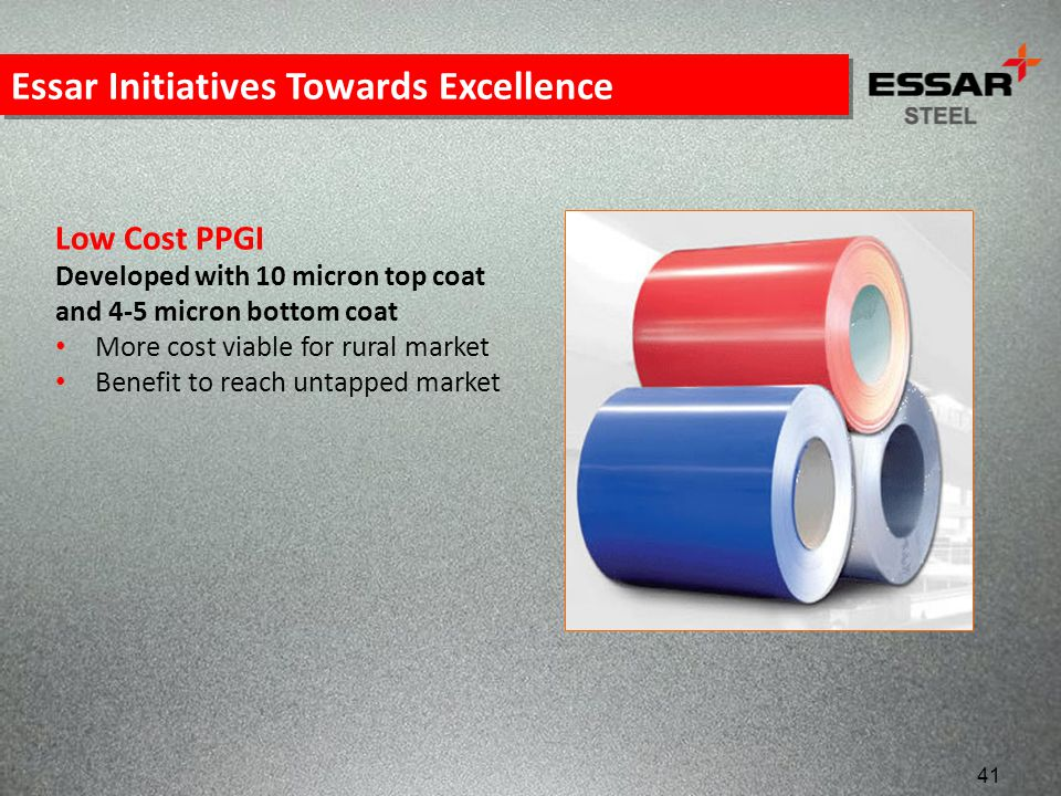 Essar Initiatives Towards Excellence