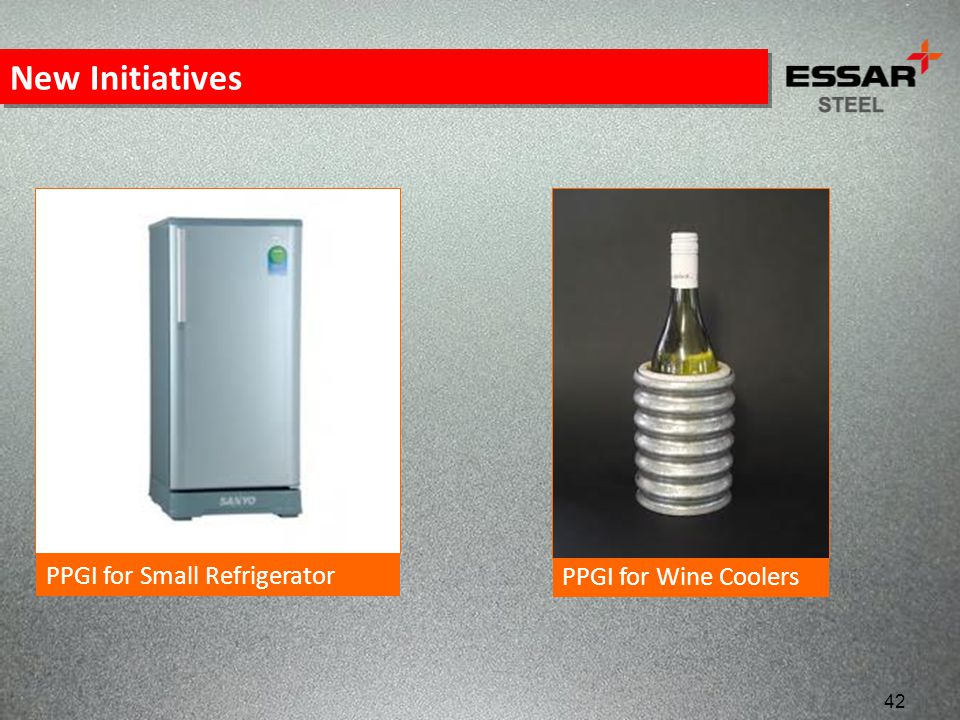 New Initiatives PPGI for Small Refrigerator PPGI for Wine Coolers