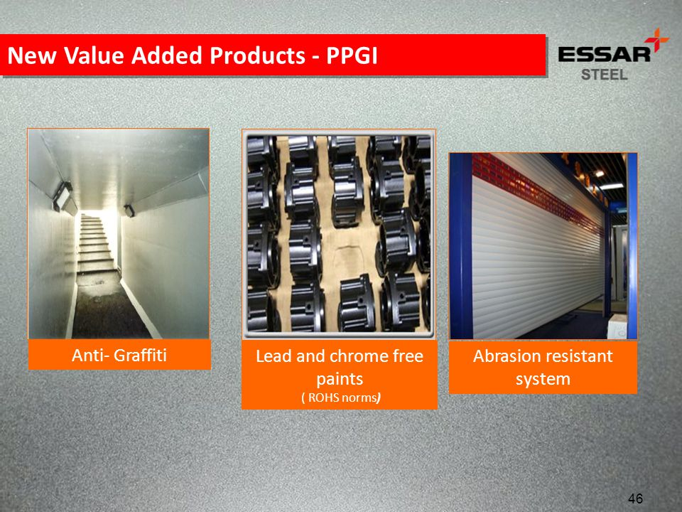 New Value Added Products - PPGI