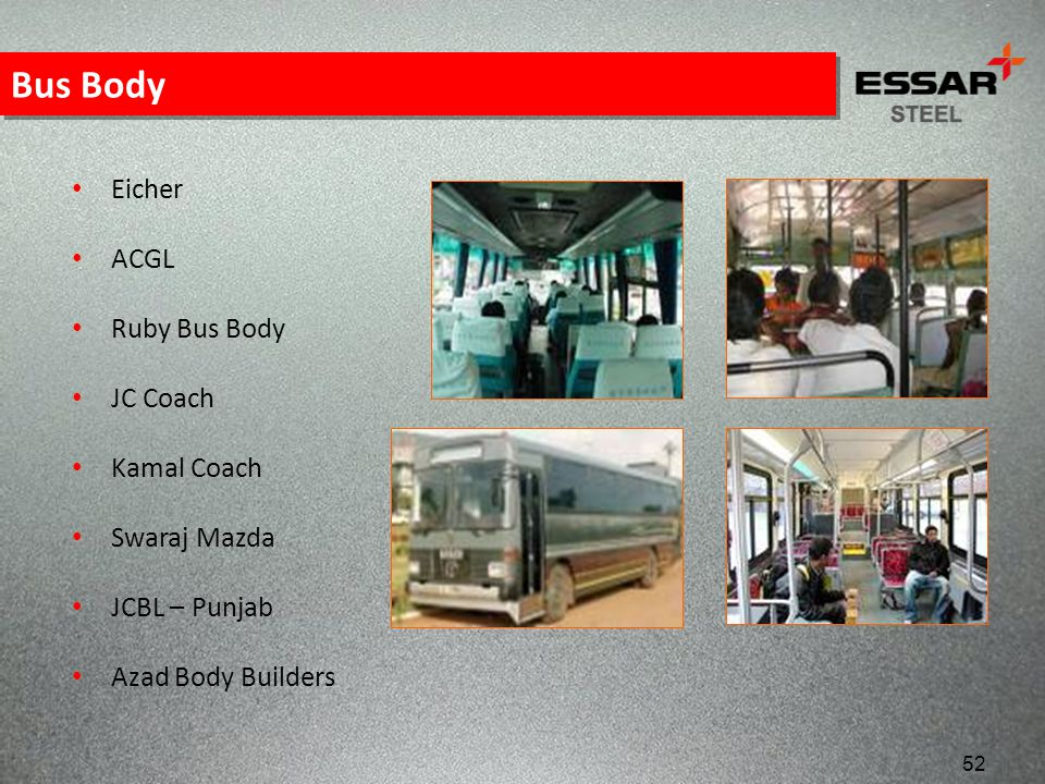 Bus Body Eicher ACGL Ruby Bus Body JC Coach Kamal Coach Swaraj Mazda
