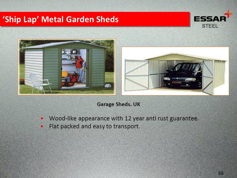'Ship Lap' Metal Garden Sheds