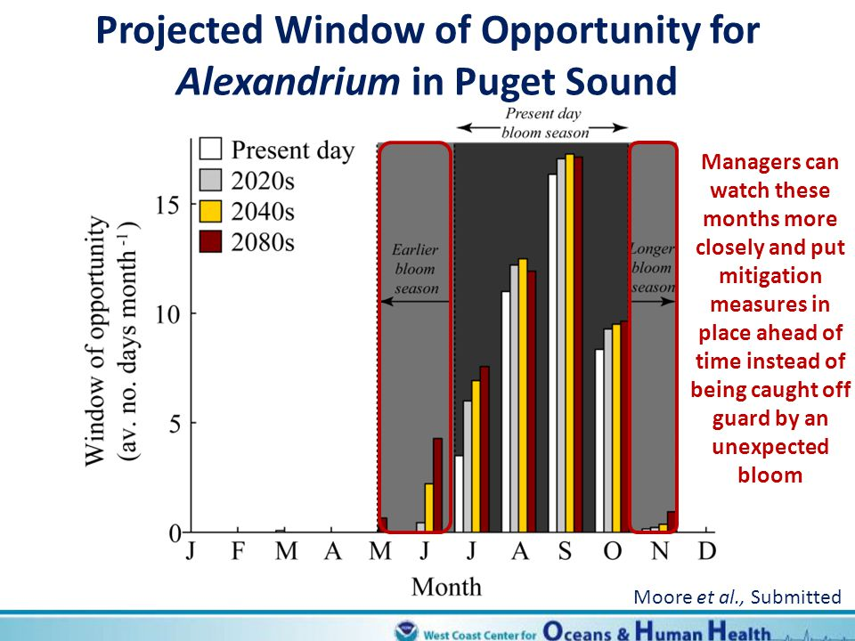 Projected Window of Opportunity for Alexandrium in Puget Sound