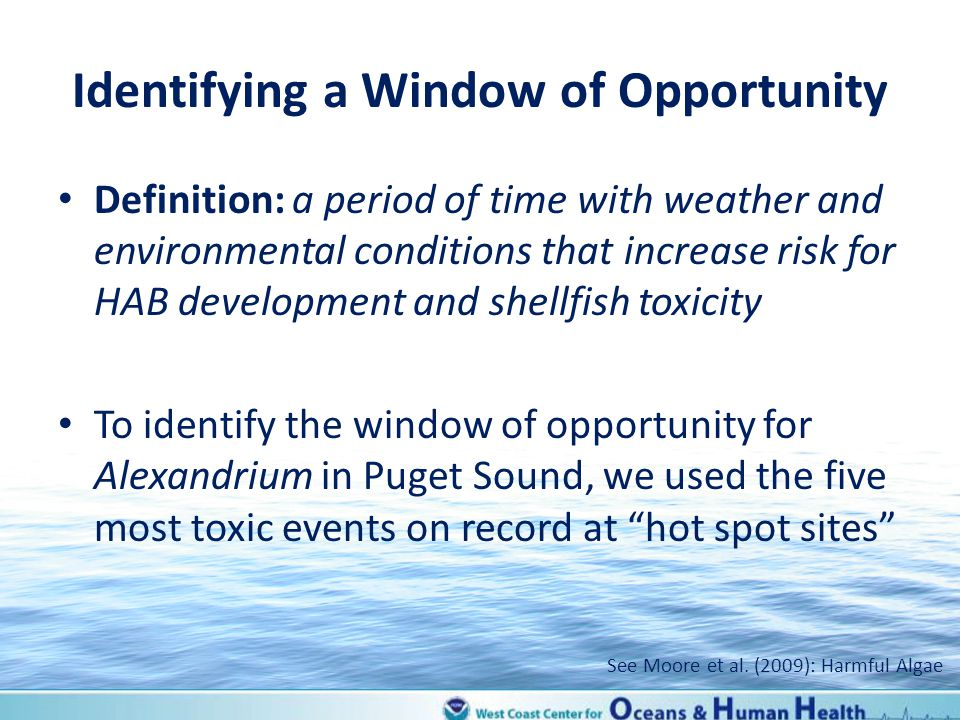 Identifying a Window of Opportunity