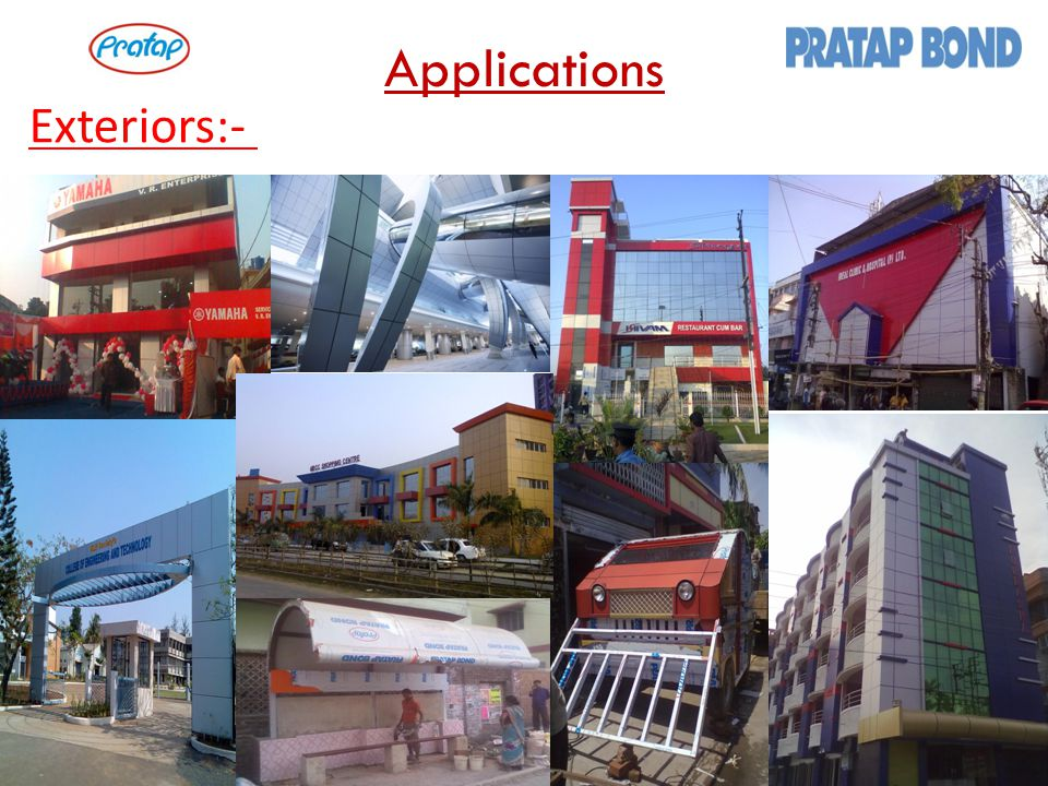 Applications Exteriors:-