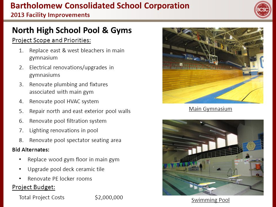 North High School Pool & Gyms
