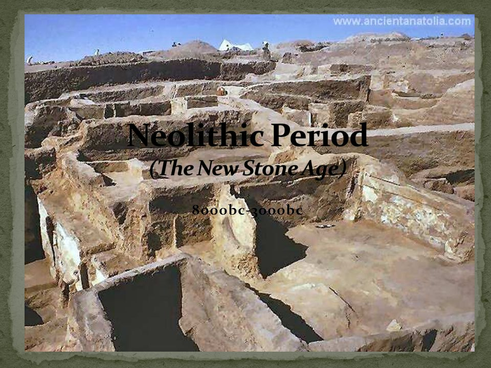 the neolithic period The palaeolithic, (or paleolithic), refers to the prehistoric period when stone tools were made by humans they are found in the great rift valley of africa from about 33 million years ago [2] [3] they were probably made by australopithecines .