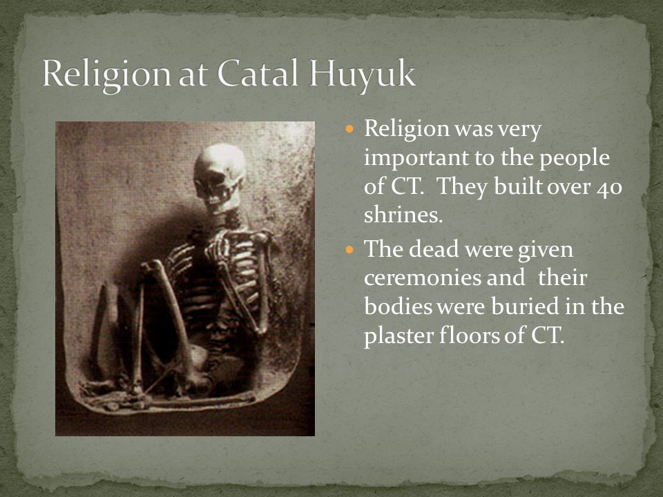 Religion at Catal Huyuk