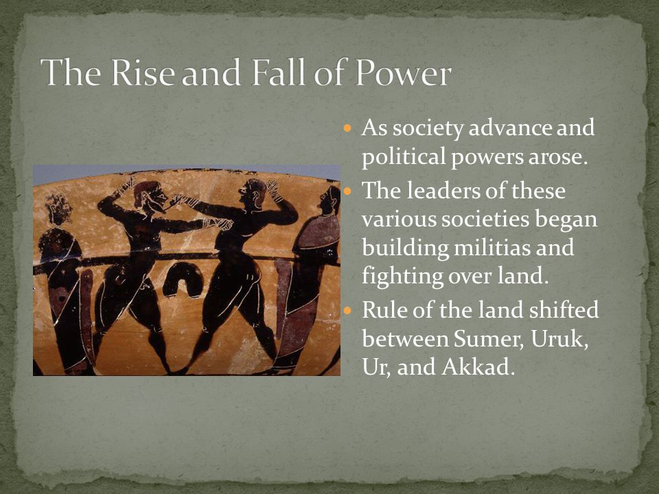 The Rise and Fall of Power