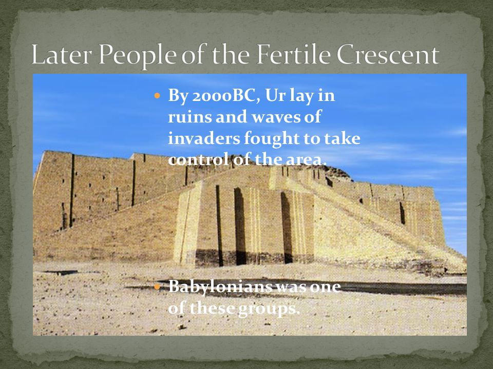 Later People of the Fertile Crescent