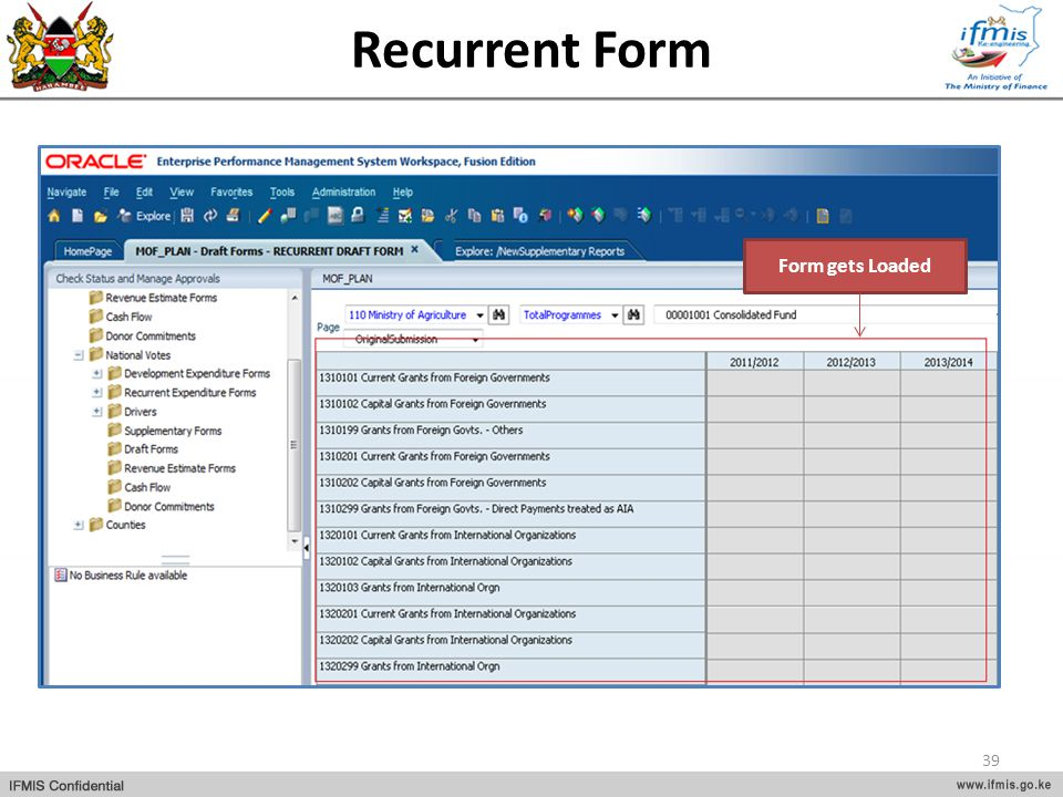 Recurrent Form Form gets Loaded