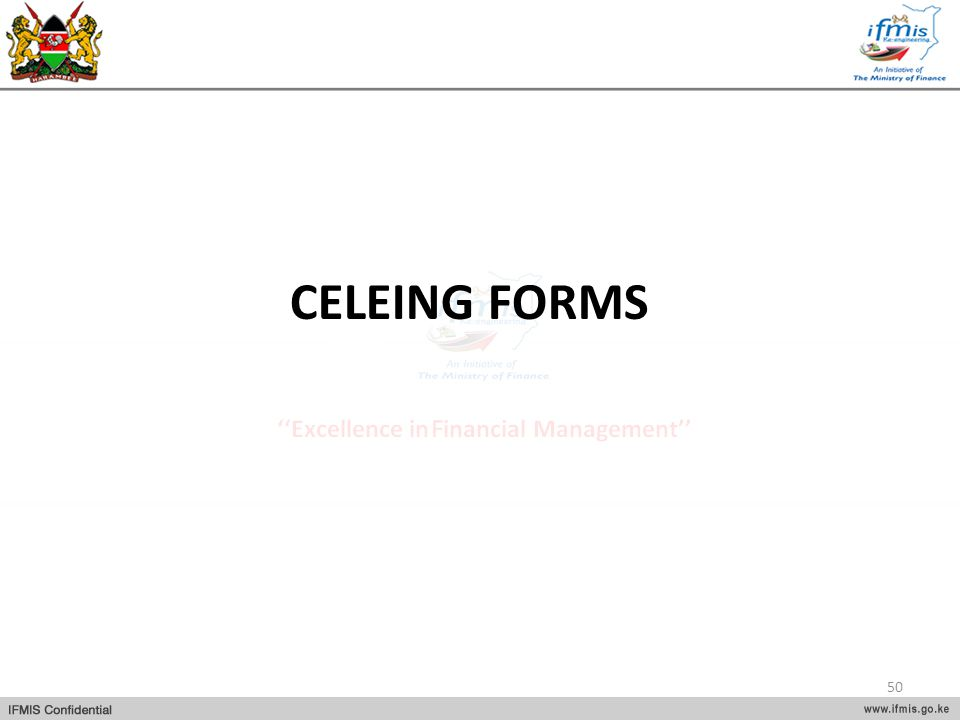 CELEING FORMS