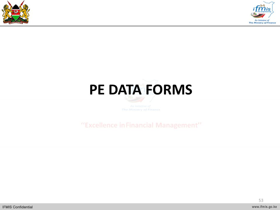 PE DATA FORMS